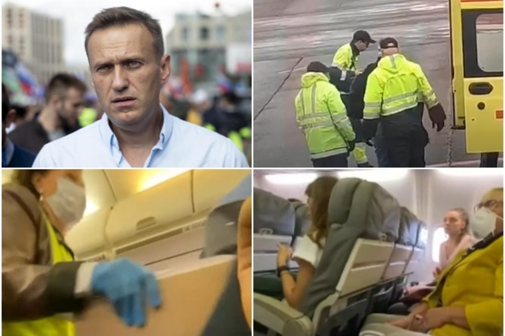 (Видео) Објавена снимка од авионот во кој е затруен Навални, се слуша како лелека од болка