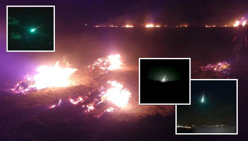 Метеорит го осветли небото над Измир во Турција, а потоа предизвика пожар