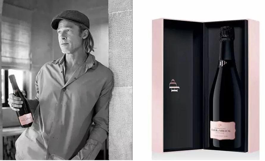 Бред Пит го промовираше розовиот шампањ што го произведе со Анџелина Џоли