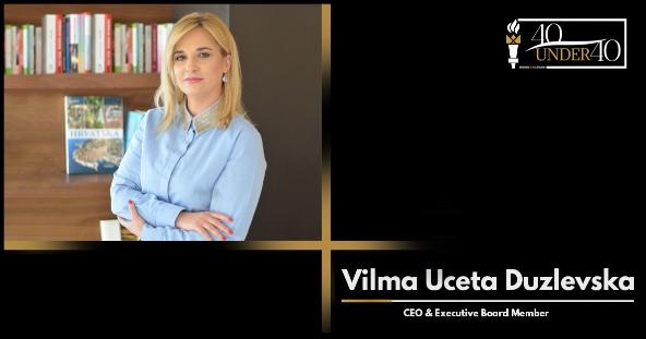 """Вилма Учета Дузлевска  со несекојдневна награда – Business Elite's """"40 under 40"""" за најуспешен млад бизнис лидер од Југоисточна Европа"""