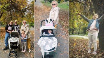 (Галерија) Тијана и Тамара со семејството: Три генерации на есенска прошетка