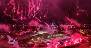 """Го """"запалија"""" небото над Сплит – Торцида го прослави 70 роденден"""