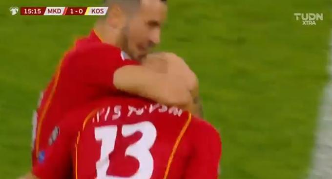 Малку среќа и 1:0 за Македонија по 15 минути игра!