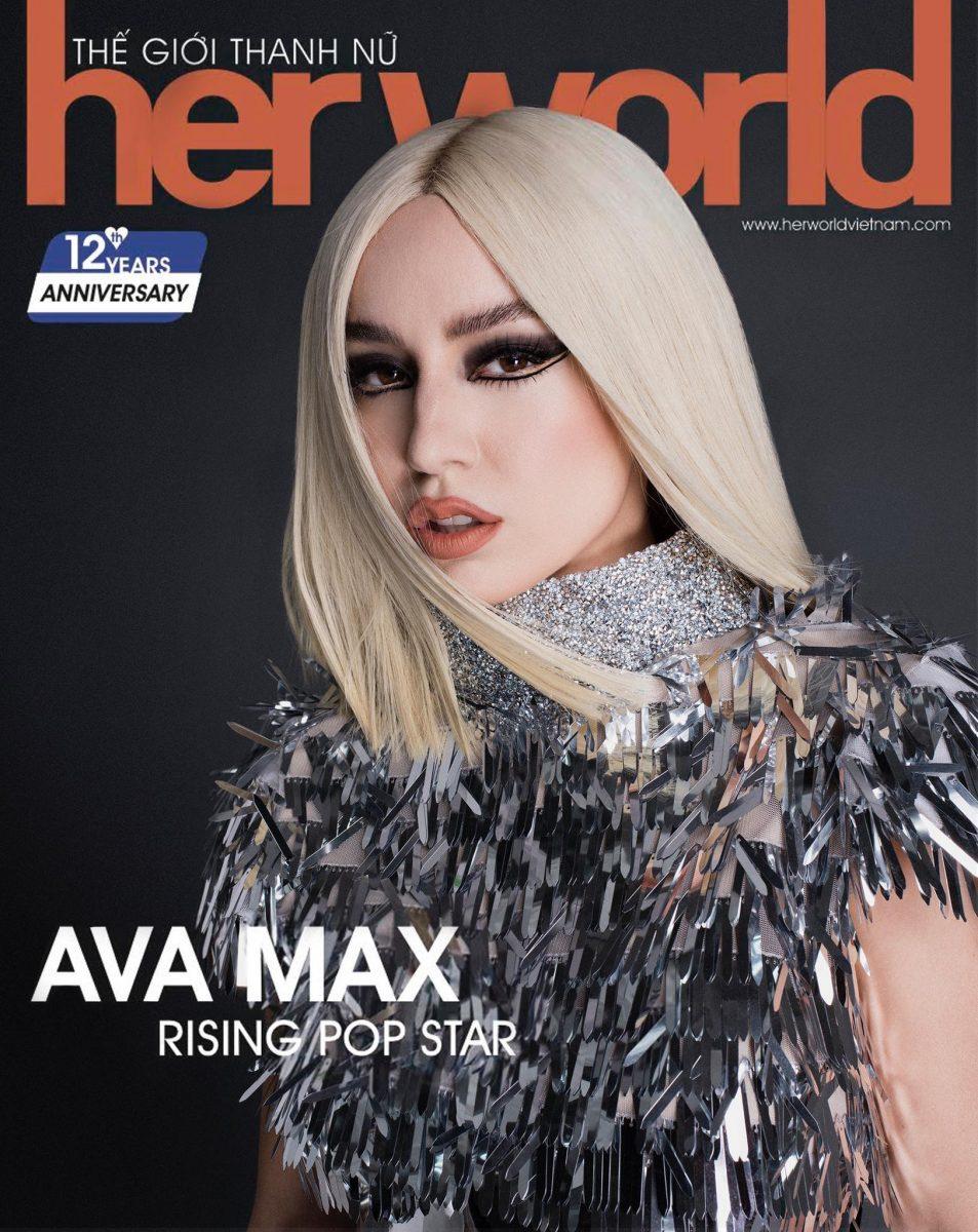 Пејачката Ава Макс во фустан на Златко Јовановски на насловната на светски магазин