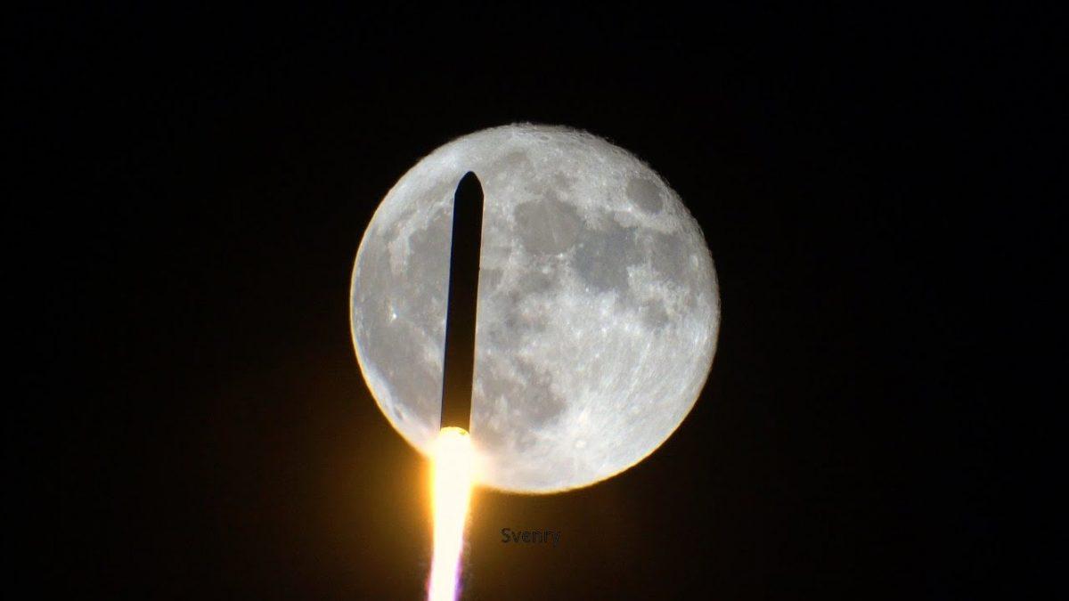 Фасцинантното видео и фотографии од поминувањето на ракета пред Месечината (ВИДЕО)