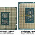Intel Alder Lake-S процесорот прикажан на фотографија