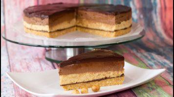 Бајадера торта без печење, со плазма и лешници