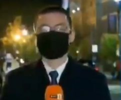 (Видео) Бугарски новинар пцуеше во живо поради маската