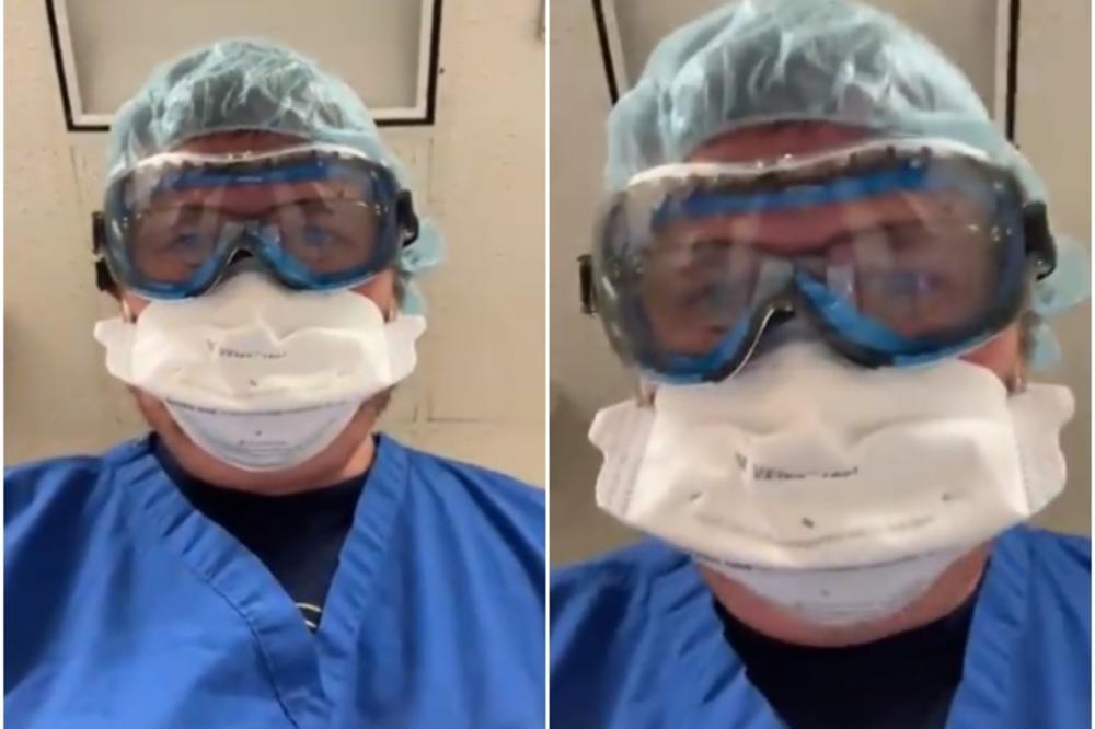 (Видео) Доктор го сними последното нешто што го гледаат луѓето кои умираат од корона