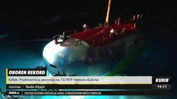 (Видео) Кина собори рекорд спуштајќи подморница 11.000 метри под морето