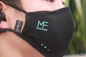 Креирана заштитна маска со bluetooth слушалки
