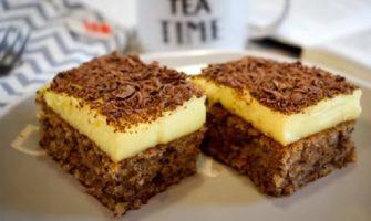 Торта со ореви и пудинг
