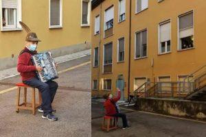 81-годишен пензионер ѝ свири серенада на сопругата под болничкиот прозор оти не може да ја посети