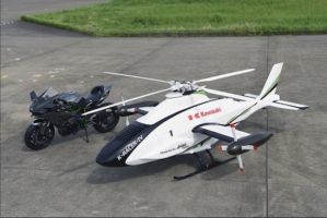 Kawasaki K-Racer дронот лета побрзо од хеликоптер (ВИДЕО)