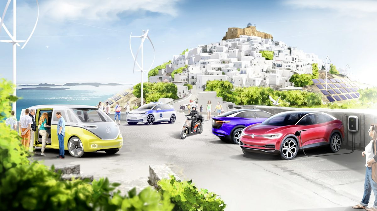 Volkswagen претвора грчки остров во рај за електрични автомобили