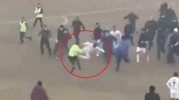 Лудило во Узбекистан – со кунг-фу удар кон судијата