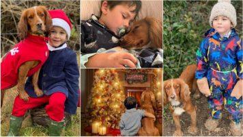 Момче со аутизам учи да комунцира со помош со своето куче