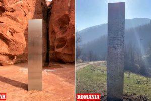 Неколку дена откако исчезна од Јута, мистериозен монолит се појави и во Романија