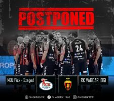 Одложен натпреварот Пик Сегед-Вардар