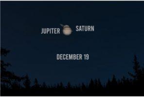 Поклопувањето на Јупитер и Сатурн в понеделник ќе се гледа над Крстот на Водно од Камени мост