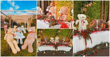 Свадба со плишани мечиња наместо младенци: Скопски ресторан внесе малку хумор во ова тмурно време