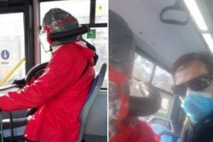 (Фото) Патник во автобус стана хит на социјалните мрежи поради неговата маска