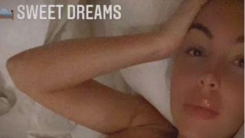 (Фото) Разголена Георгина посакува добра ноќ