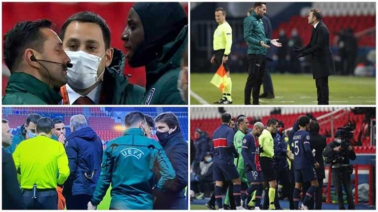 Фудбалерите на ПСЖ и Башакшехир го напуштија теренот поради раститички испад на четвртиот судија