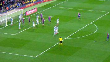 """Шпанските клубови ја најдоа """"финтата"""" да ги спречат головите на Меси од слободен удар"""