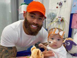 """""""Мама и тато те сакаат принцезо, ќе го победиш ова"""", познат спортист се моли за неговата четиримесечна ќерка која боледува од леукемија"""