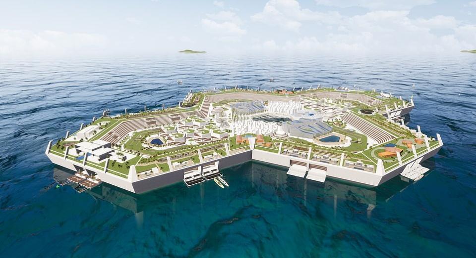 (Видео) Се гради првиот пловечки град на Бахамите, цените на становите стигаат и до 1,5 милијарди долари