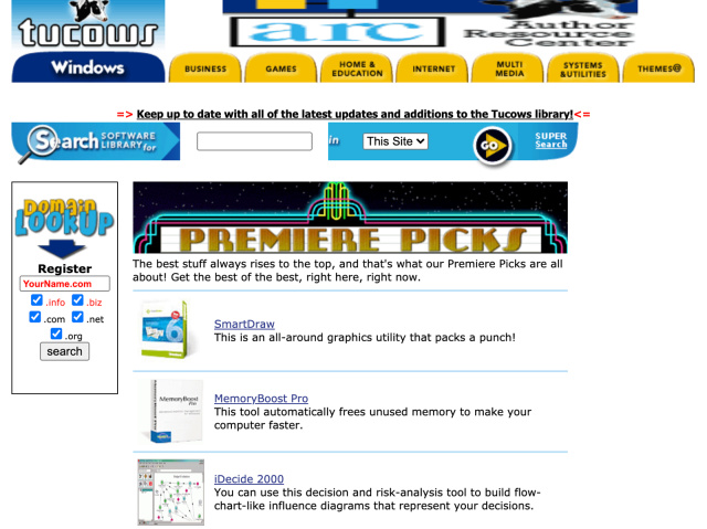 Згасна некогаш популарниот сајт за преземање софтвер, Tucows