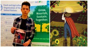 Павел Милановски од Куманово со својот постер победи на глобалниот натпревар за Светскиот ден на храната