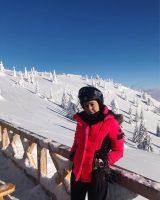 (Фото) Викторија Лоба скија на Копаоник, малку забава среде пандемија