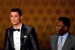 (Фото) Пеле тврди дека има дадено повеќе од 1000 голови, не сака да признае дека Роналдо му го срушил рекордот