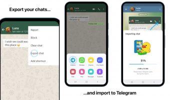 Telegram овозможува импортирање на WhatsApp разговори и други подобрувања