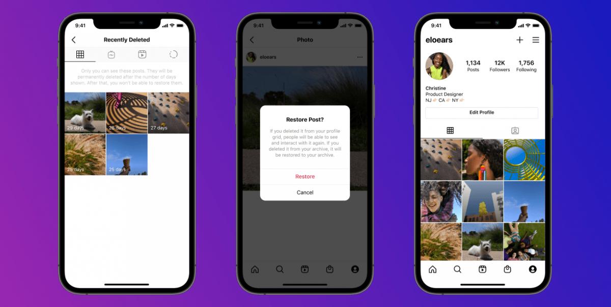 Instagram воведува опција за враќање на избришаните содржини