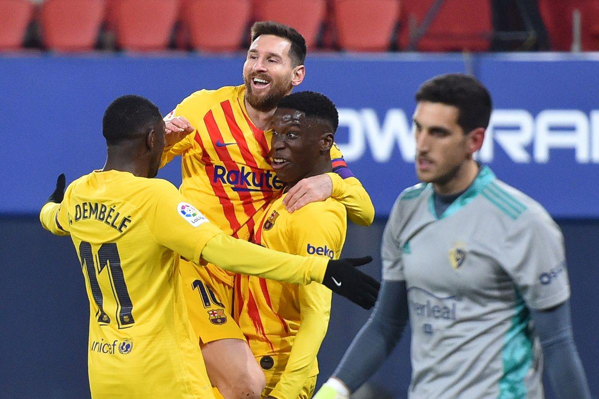 Меси два пати асистираше, Барселона победи во Памплона