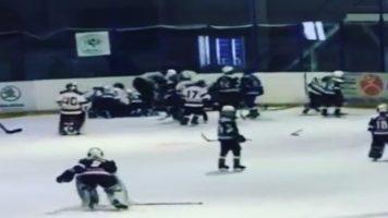 Од мали ги учат! Луда хокеарска тепачка на 10-годишници во Русија