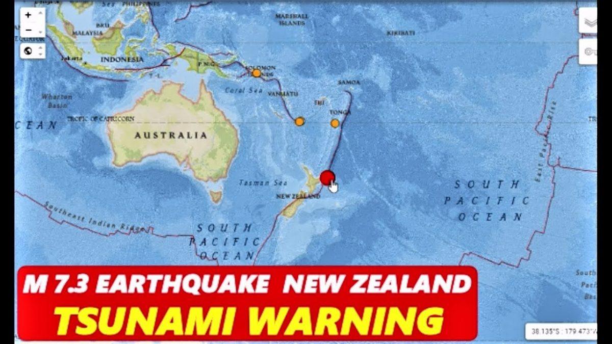 По силниот земјотрес од 7,3 степени во Нов Зеланд, издадено предупредување за цунами