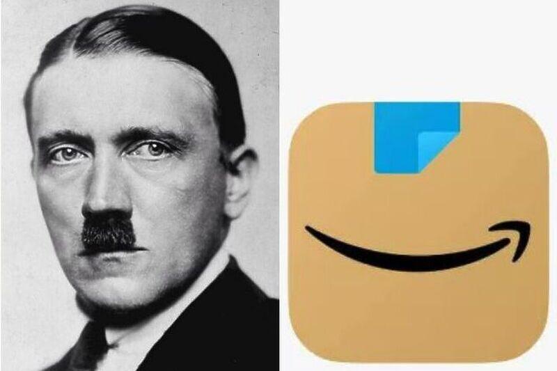 Amazon го промени логото на апликацијата бидејќи потсетува на Хитлер