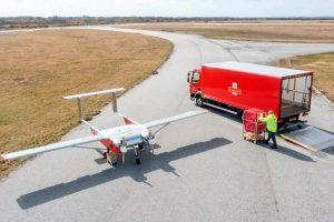 Британската пошта тестира дронови за достава на далечни острови