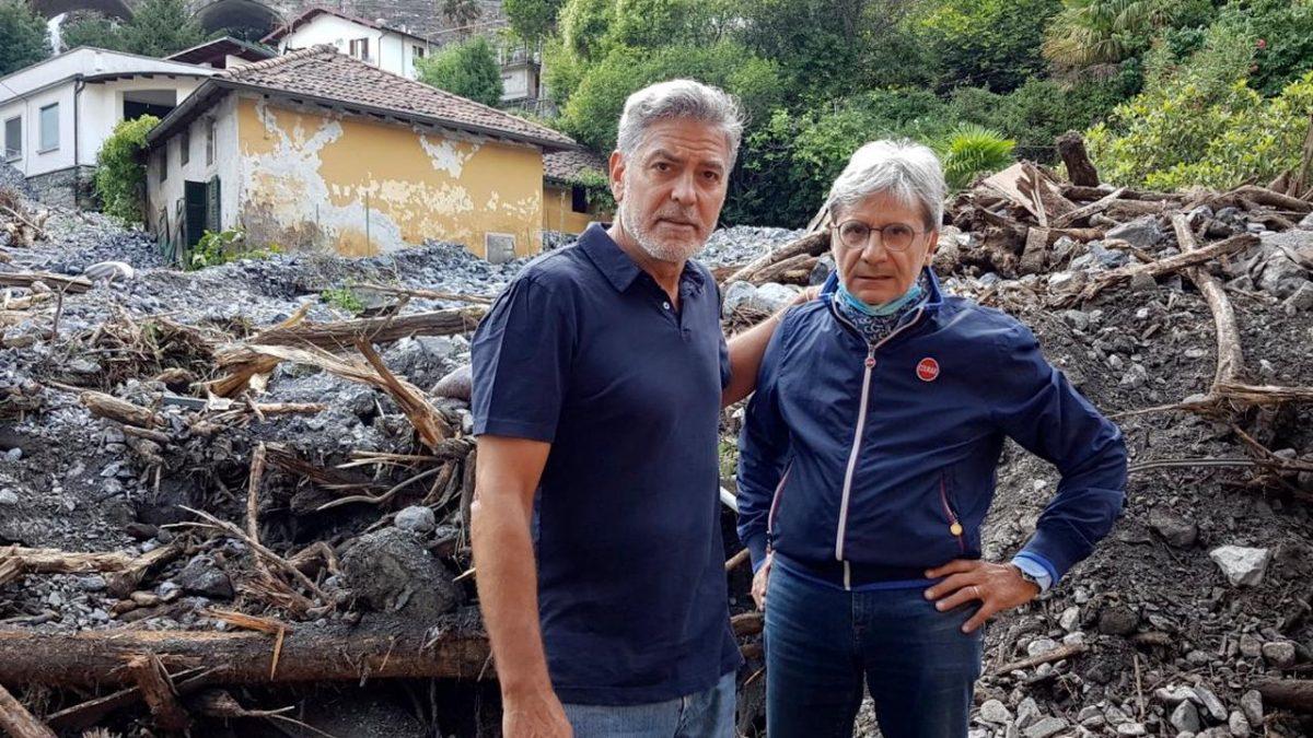 (Видео) Џорџ Клуни им помага на Италијанците по катастрофалните поплави кај езерото Комо: Многу е полошо отколку што мислиме