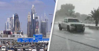 (Видео) Дубаи првпат направи вештачки дожд за да ги намали горештините од 50 степени