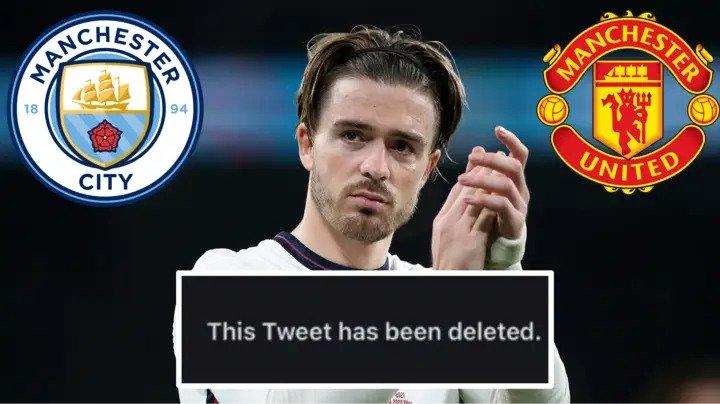 Грилиш ги избриша пораките во кои страствено навива за Манчестер јунајтед