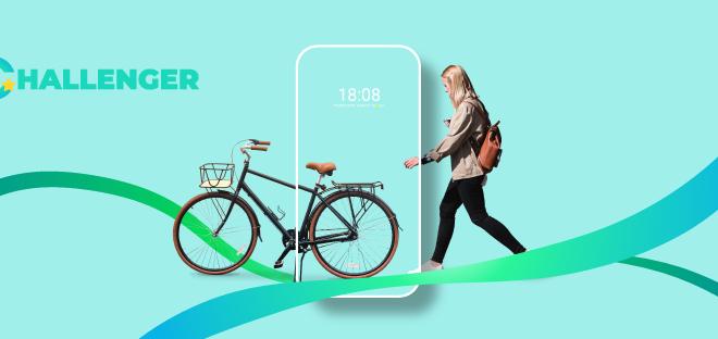 Challenger е македонска апликација што ве наградува додека возите велосипед