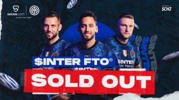 Интер ги продаде сите милион навивачки токени за неколку минути!